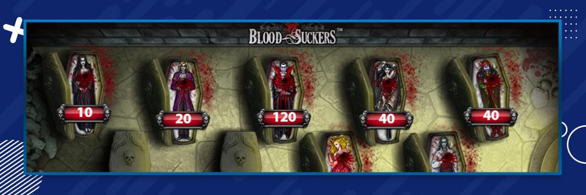 Blood Suckers Vali ja Kliki mäng