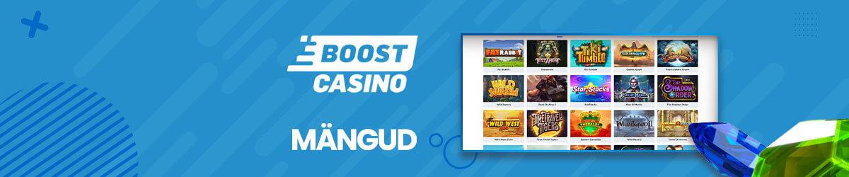 Boost Casino mänguvalik