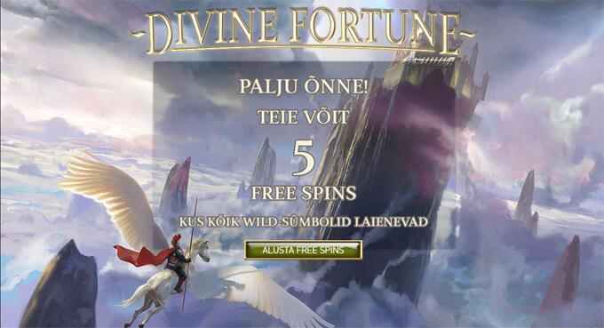 Divine Fortune alusta tasuta keerutusi