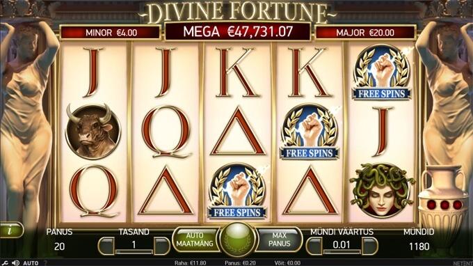 Divine Fortune tasuta keerutuste sümbolid