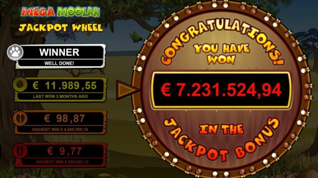 Optibetis võideti Mega Moolah slotil enam kui 7.2 miljonit eurot