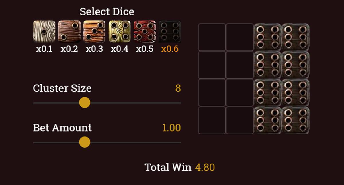 Jolly Dicers sümbolite väljamaksed