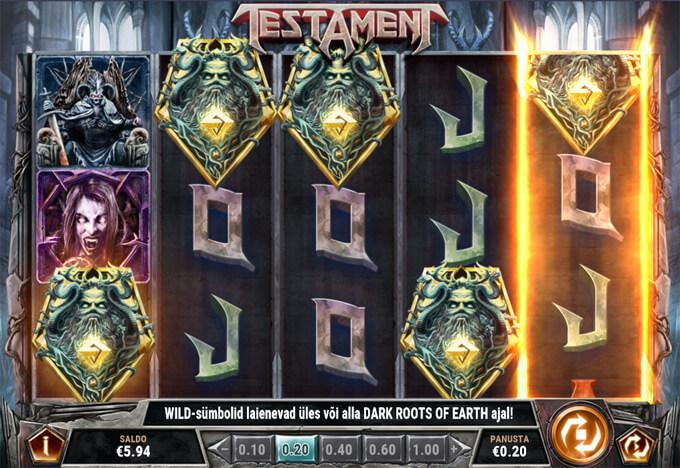 Testament viis Scatter-sümbolit