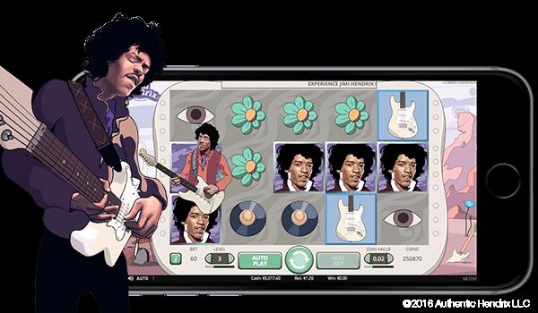 Proovi siit tasuta Jimi Hendrixi mobiilset videoslotti