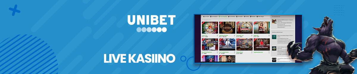 Unibeti live kasiino mängud
