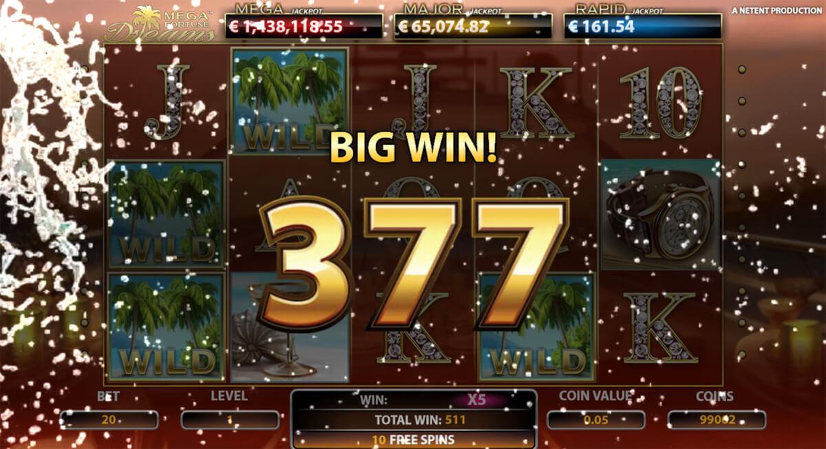 Mega Fortune Dreams võit