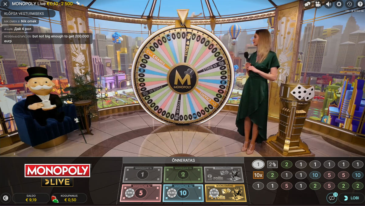 Monopoly Live stuudio