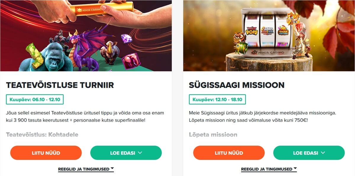 Ninja Casino kampaaniad