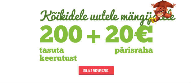 Saa Pafiga liitudes 200 tasuta spinni ja 20 eurot tasuta raha