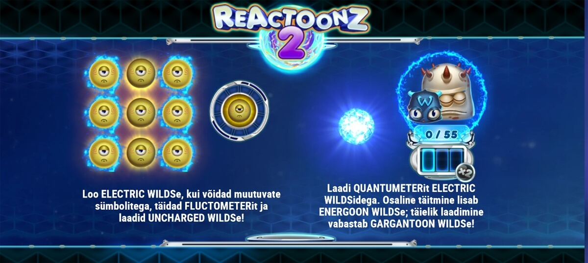 Reactoonz 2 funktsioonid