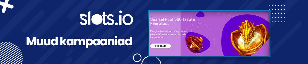 Slots.io muud pakkumised