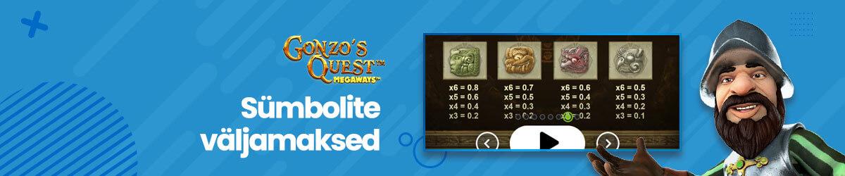 Gonzo's Quest Megaways muud sümbolid