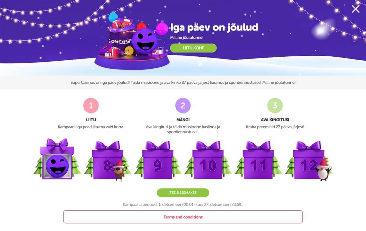 SuperCasino kampaaniad - jõulukampaania