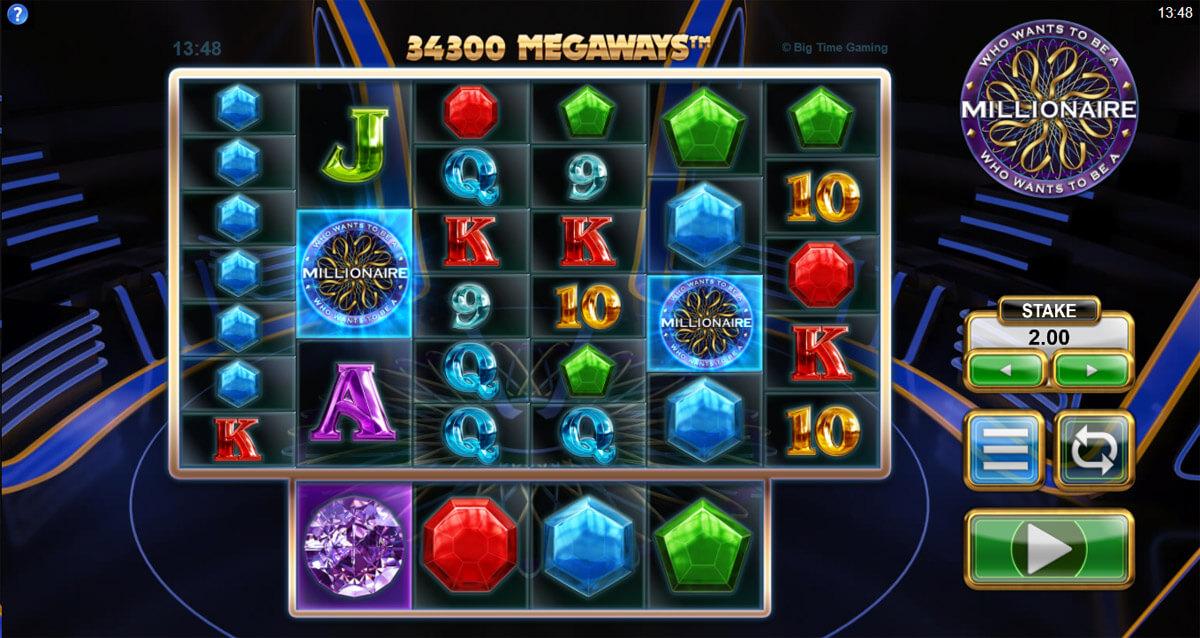 Who Wants to Be A Millionaire Megaways sloti näide